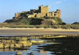 Bamburgh  Castle  now.